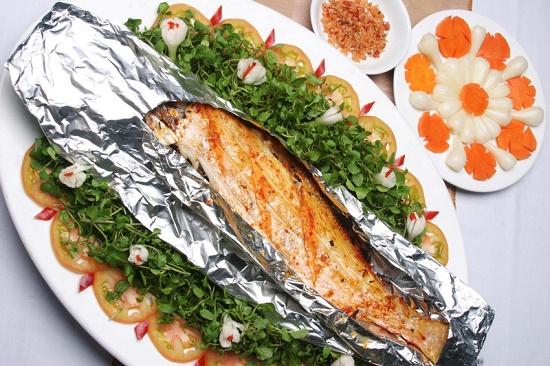 cá thu nướng giấy bạc