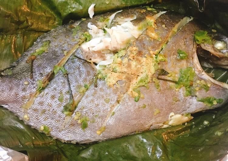 cá dìa nướng muối ớt xanh